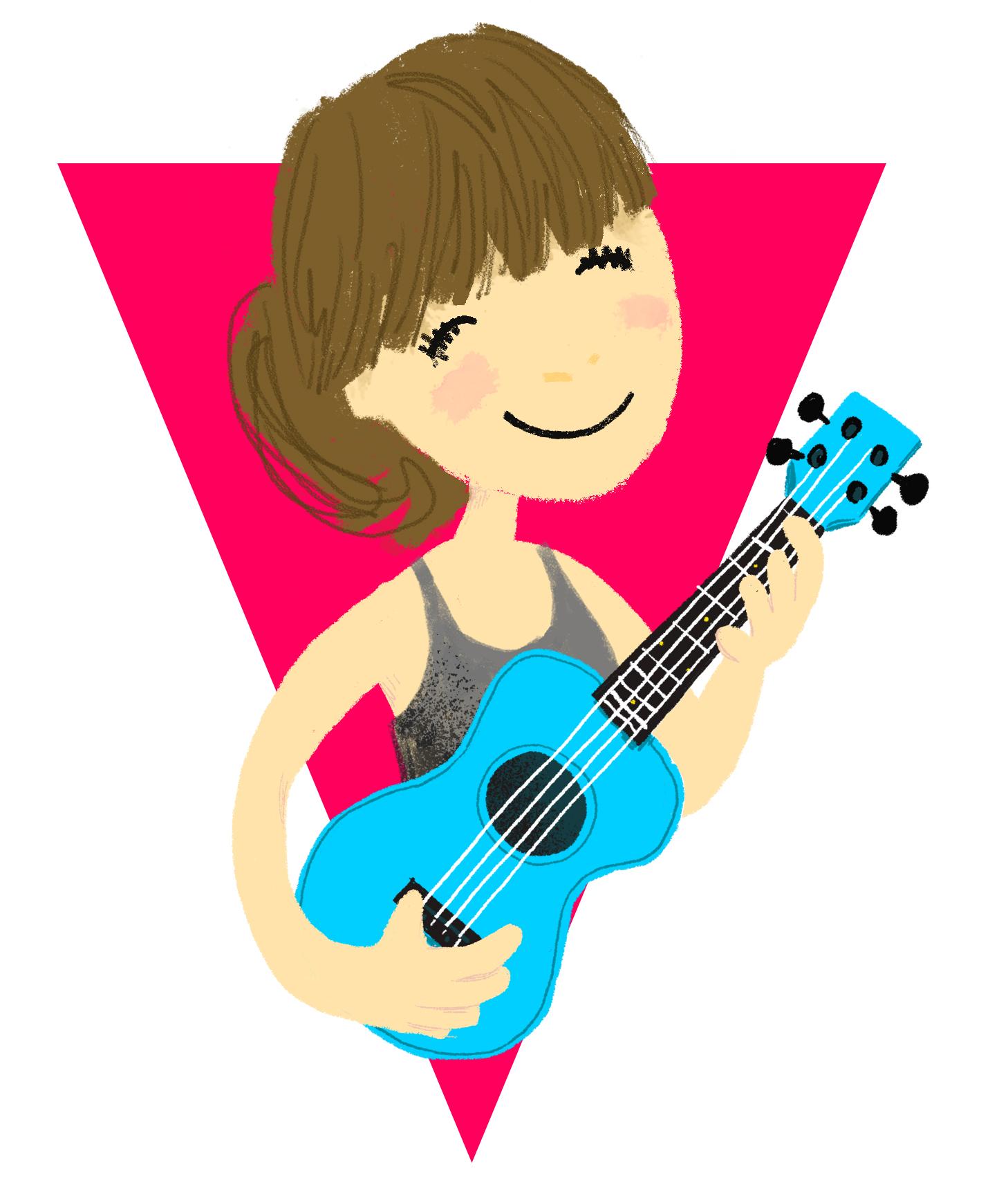 Becky with ukulele