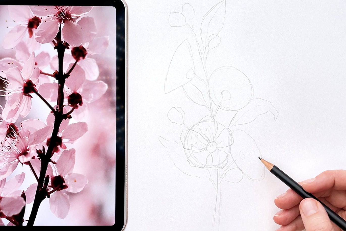 how to draw flowers - Bloom Creatives art classes