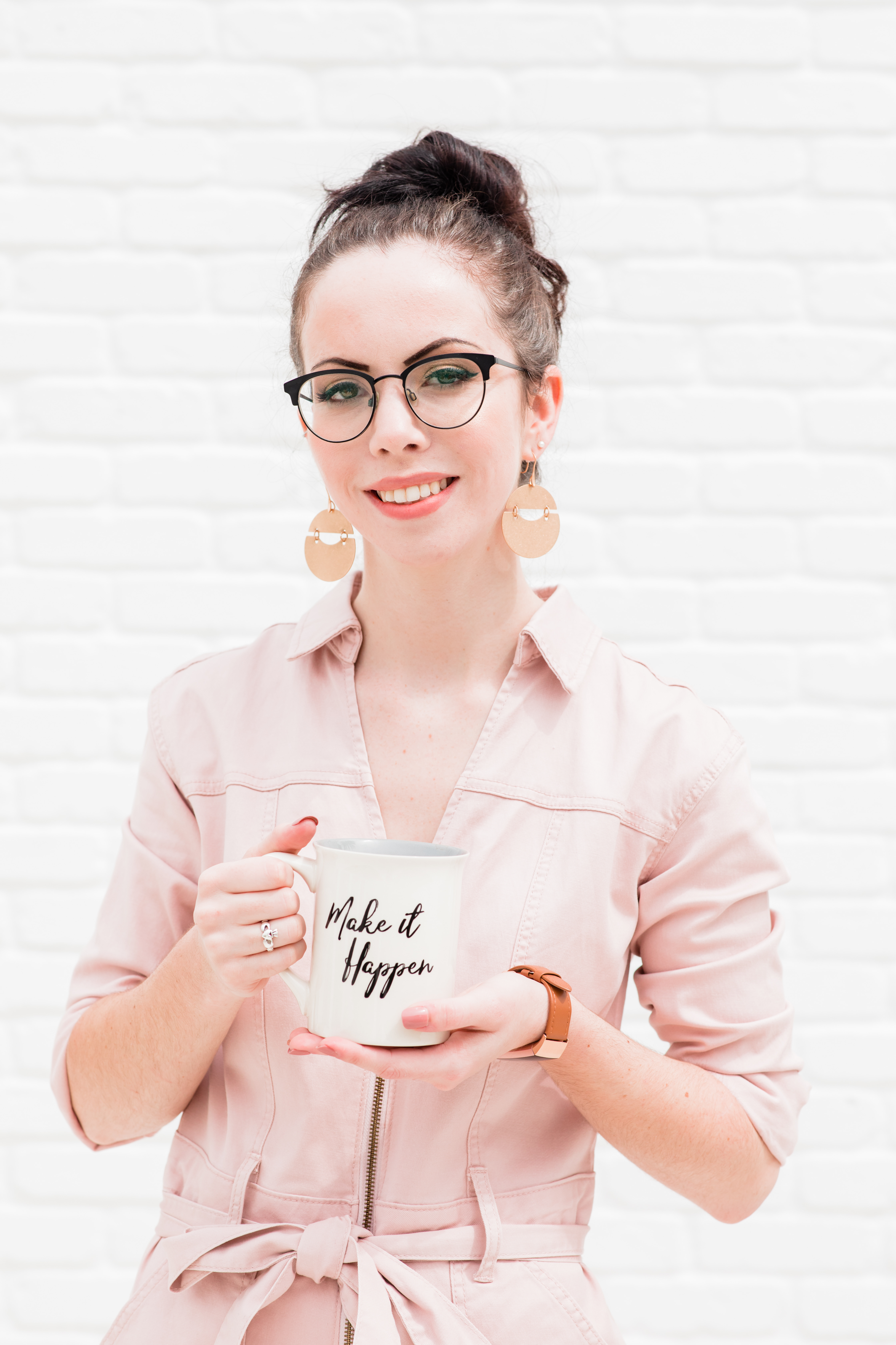 Woman smiling with mug