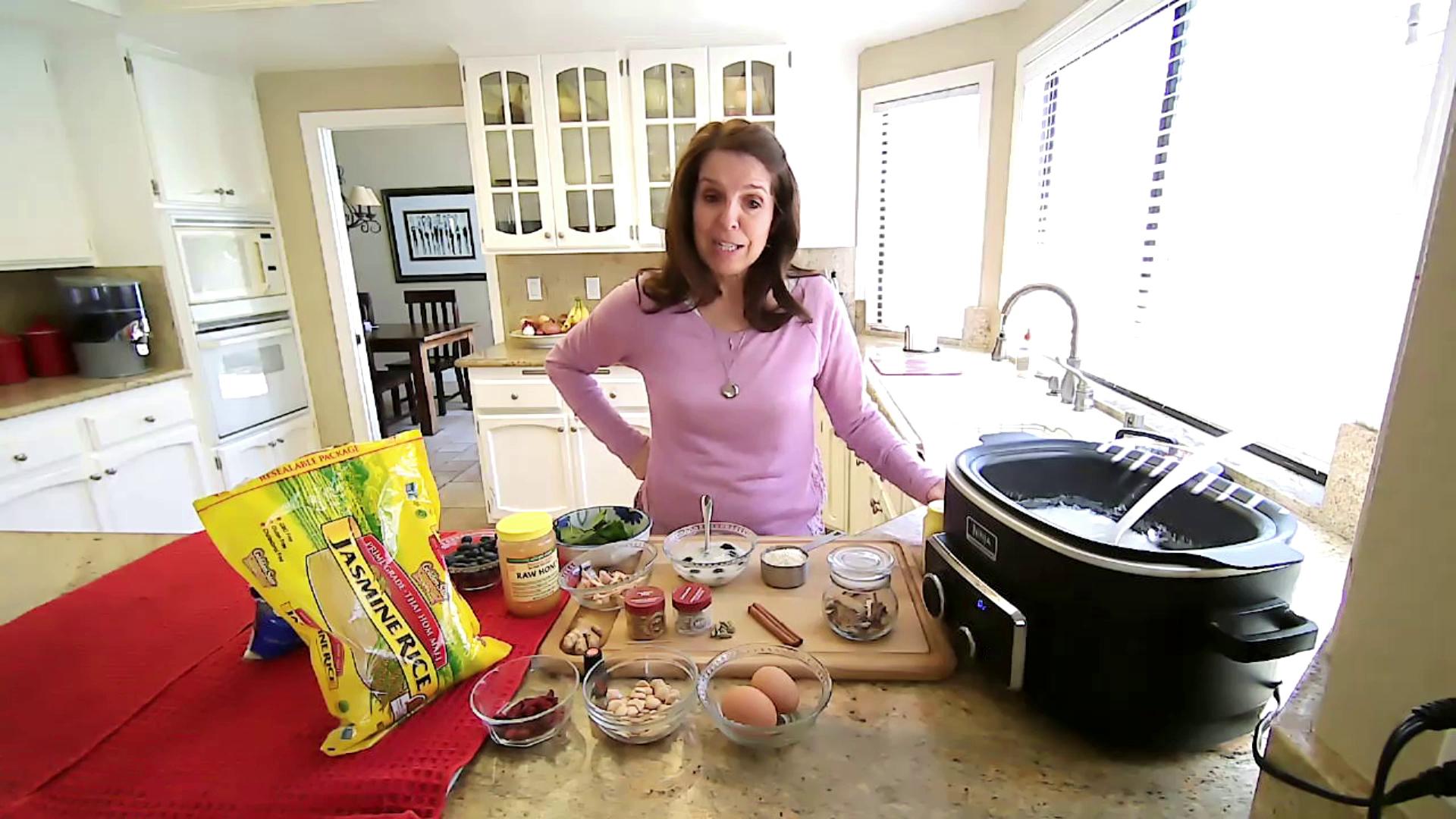 intestines on cutting board with healthy food