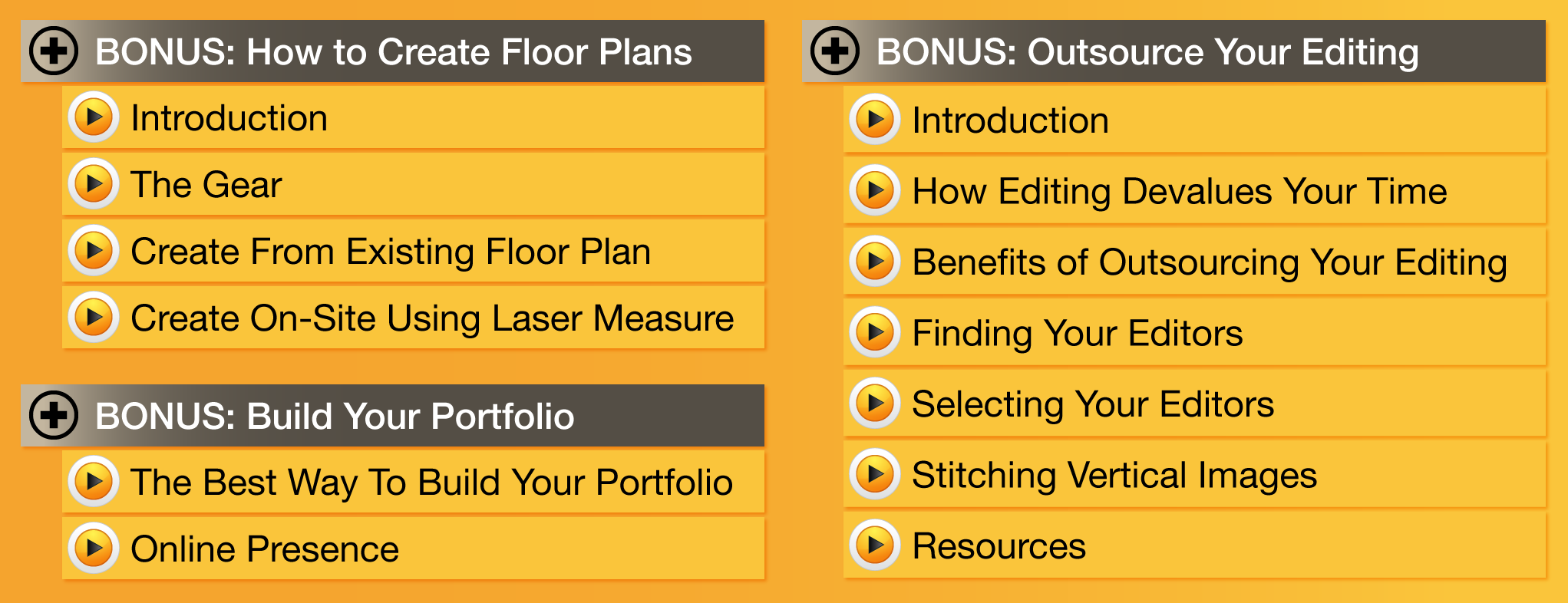 How to Create Real Estate Floor Plans, How to build your photography portfolio and how to outsource your editing