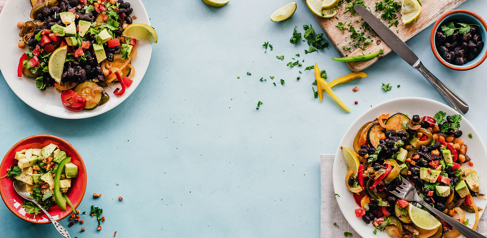 Platos de comida saludable