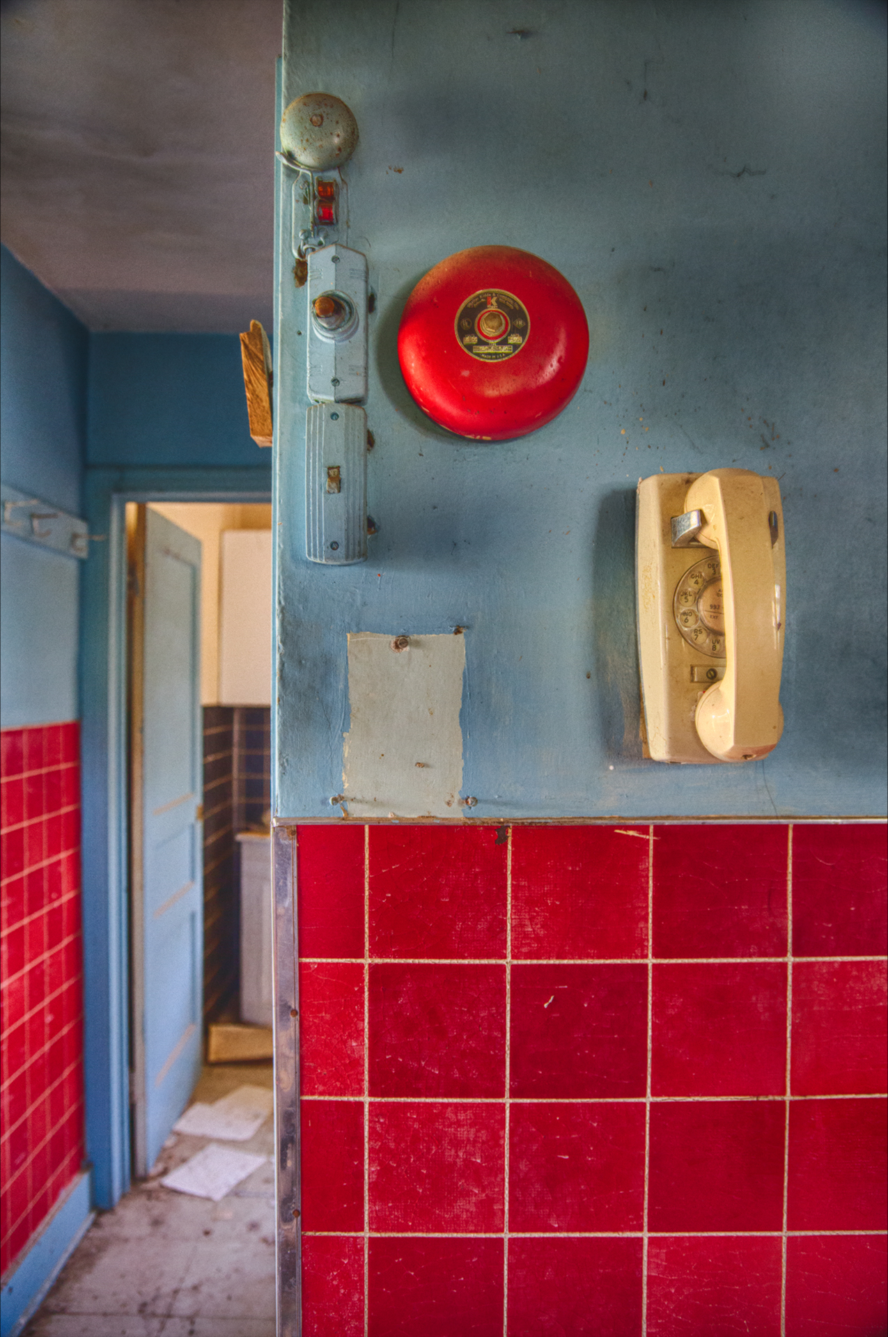 abandoned telephone in kitchen