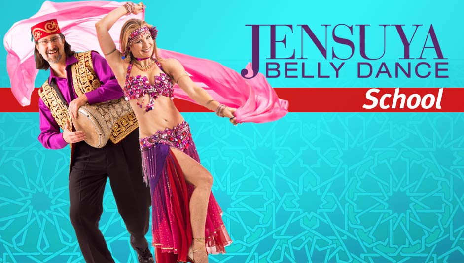 Belly dancer Jensuya & drummer Robert Peak of Jensuya Belly Dance School