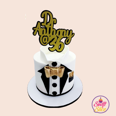 2D layered Cake topper.