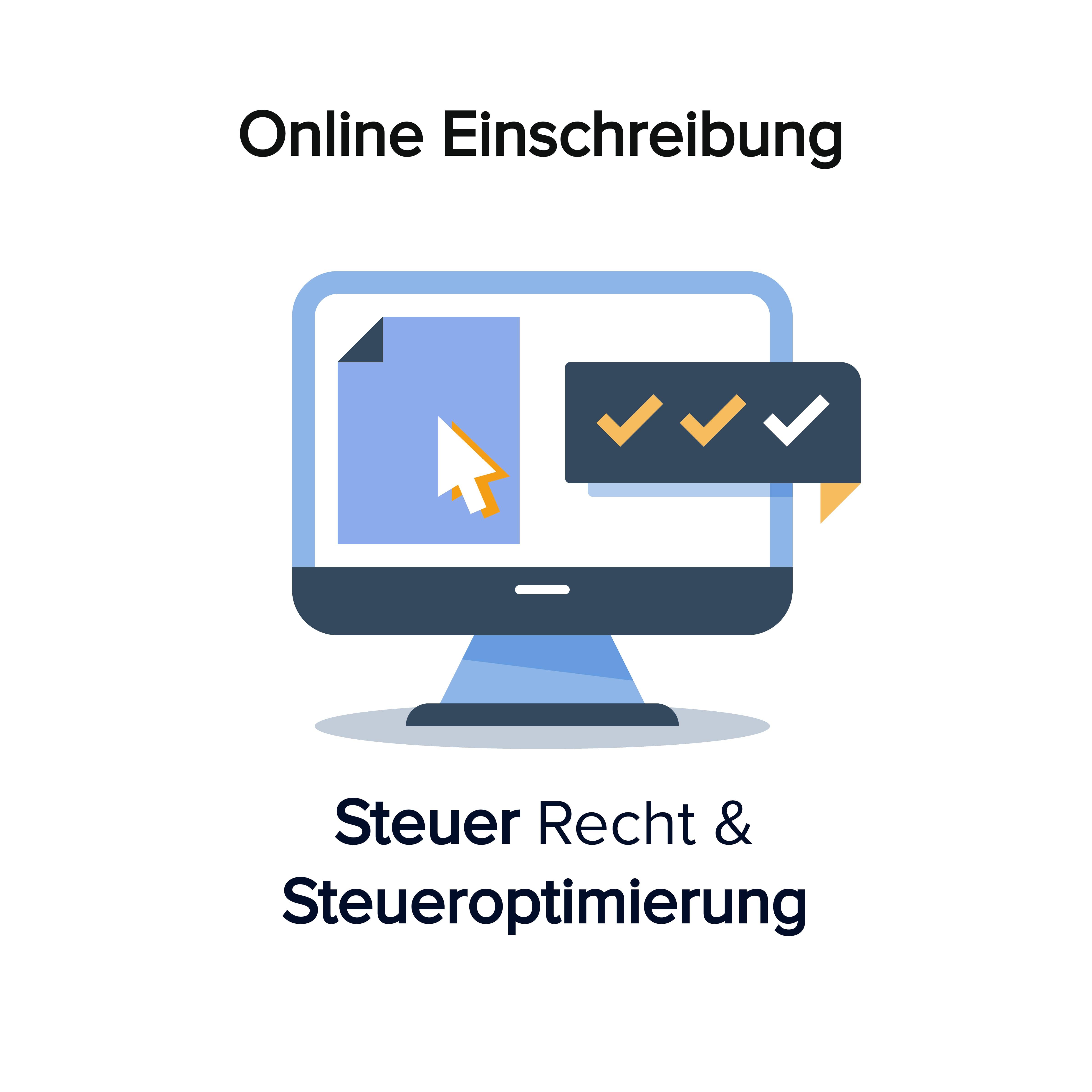 Online Kurs Einschreiben Steueroptimierung Finanzamt