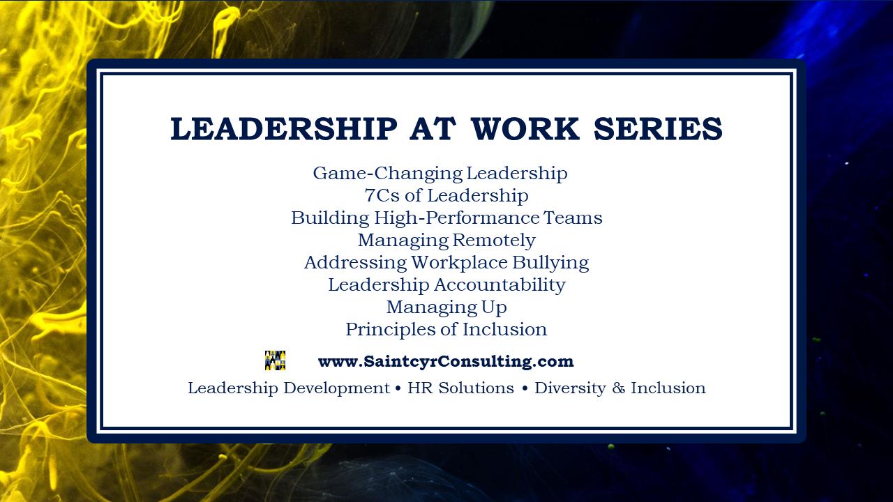 Leadership At Work Series Flyer