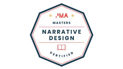 Narrative design badge