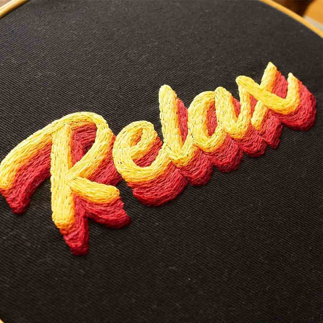 Relax embroidery Pattern