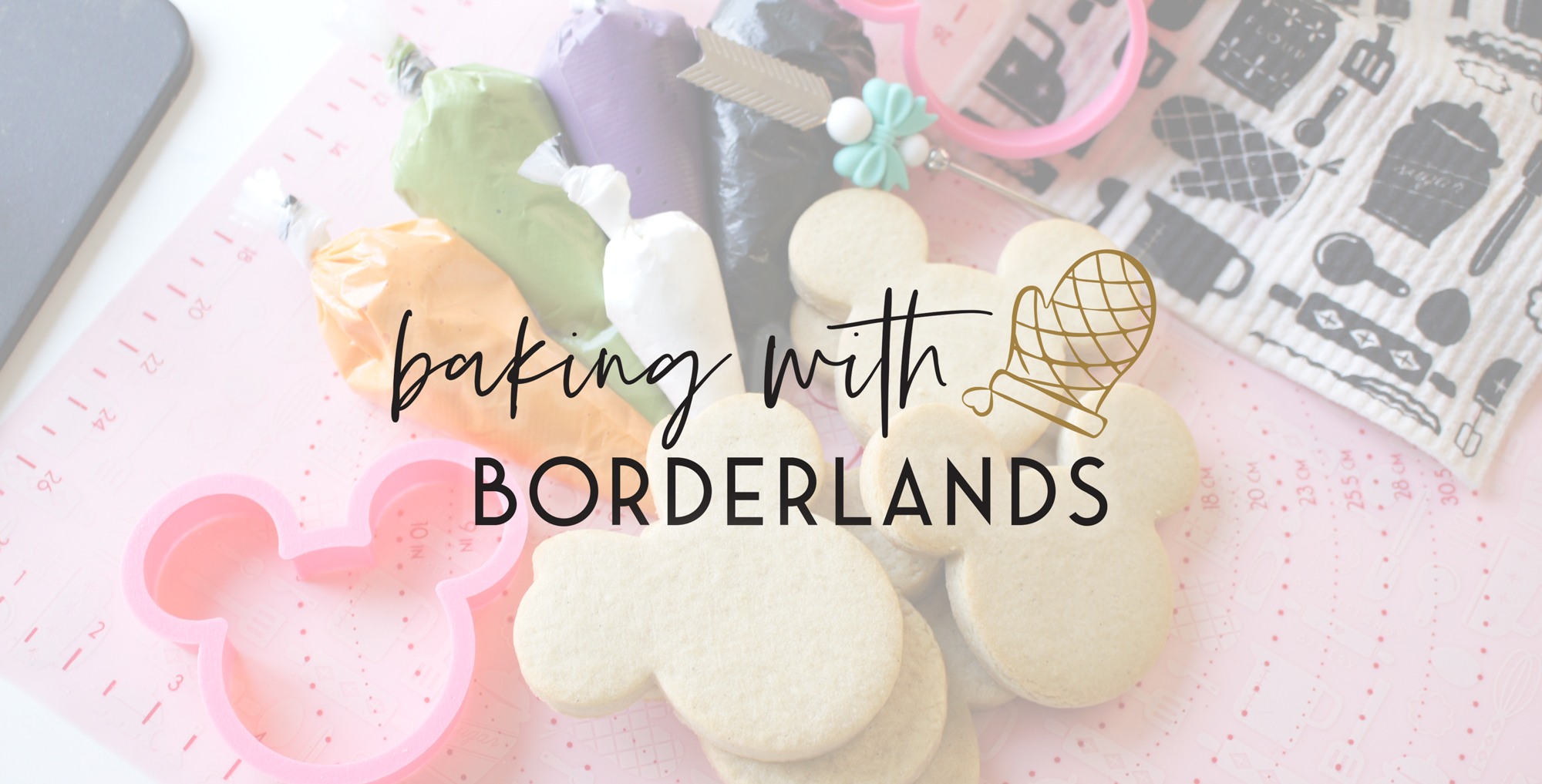 Sugar Cookies with Royal Icing and Deocrating Tools from Borderlands Bakery