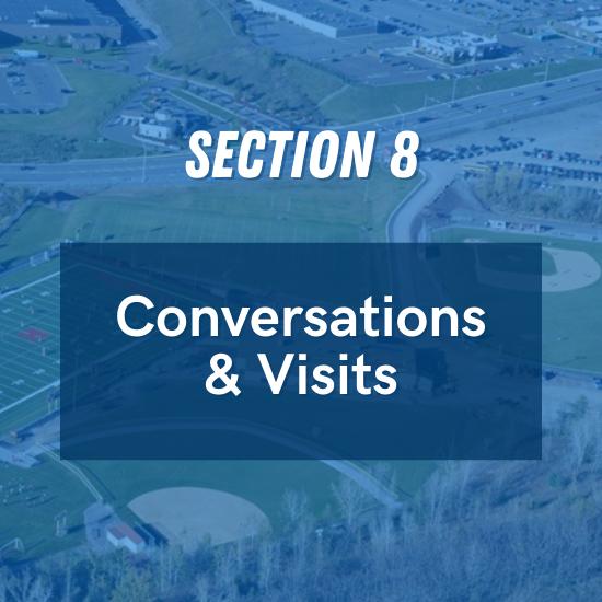 Section 8 - Conversations & Visits