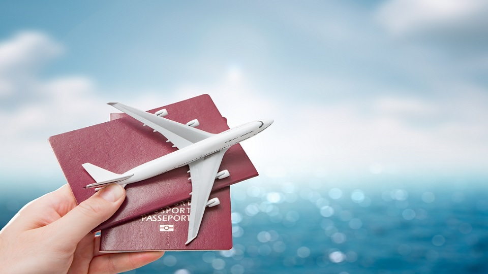plane and passports