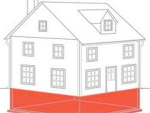 Illustration of house foundation
