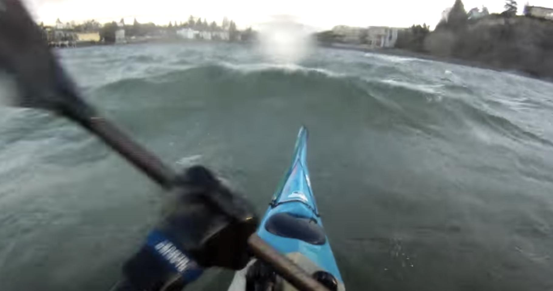 Downwinding Shilshole Bay in Seattle