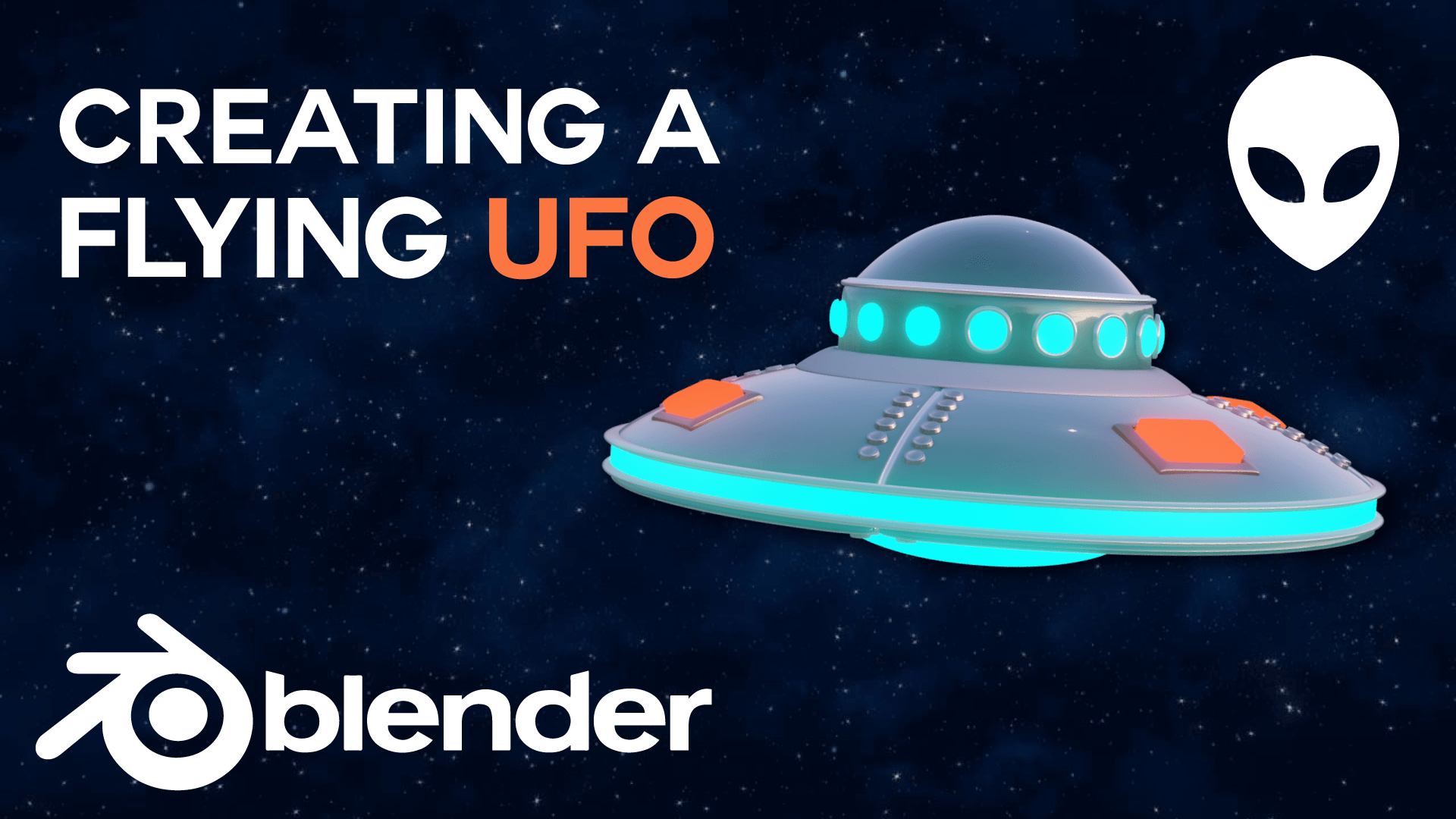 UFO 3D Animation Model and Blender Course Academy