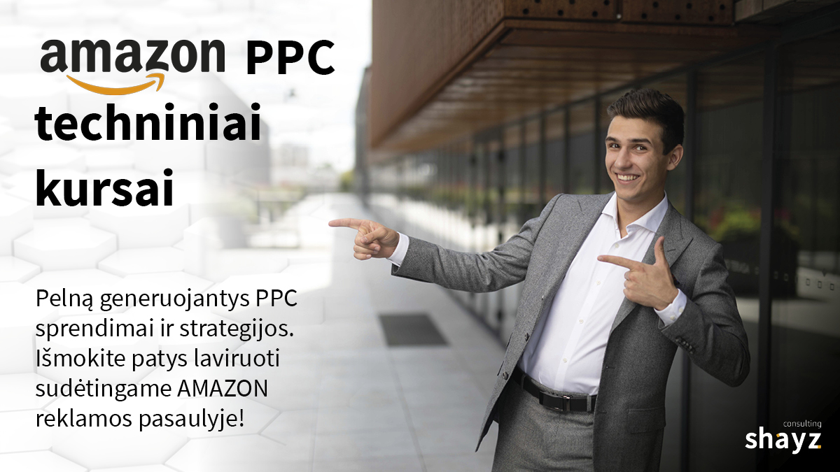 Amazon PPC techniniai kursai