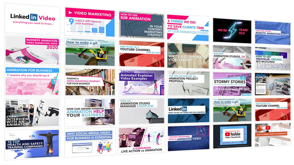 Creative Business Marketing Blog Thumbnails