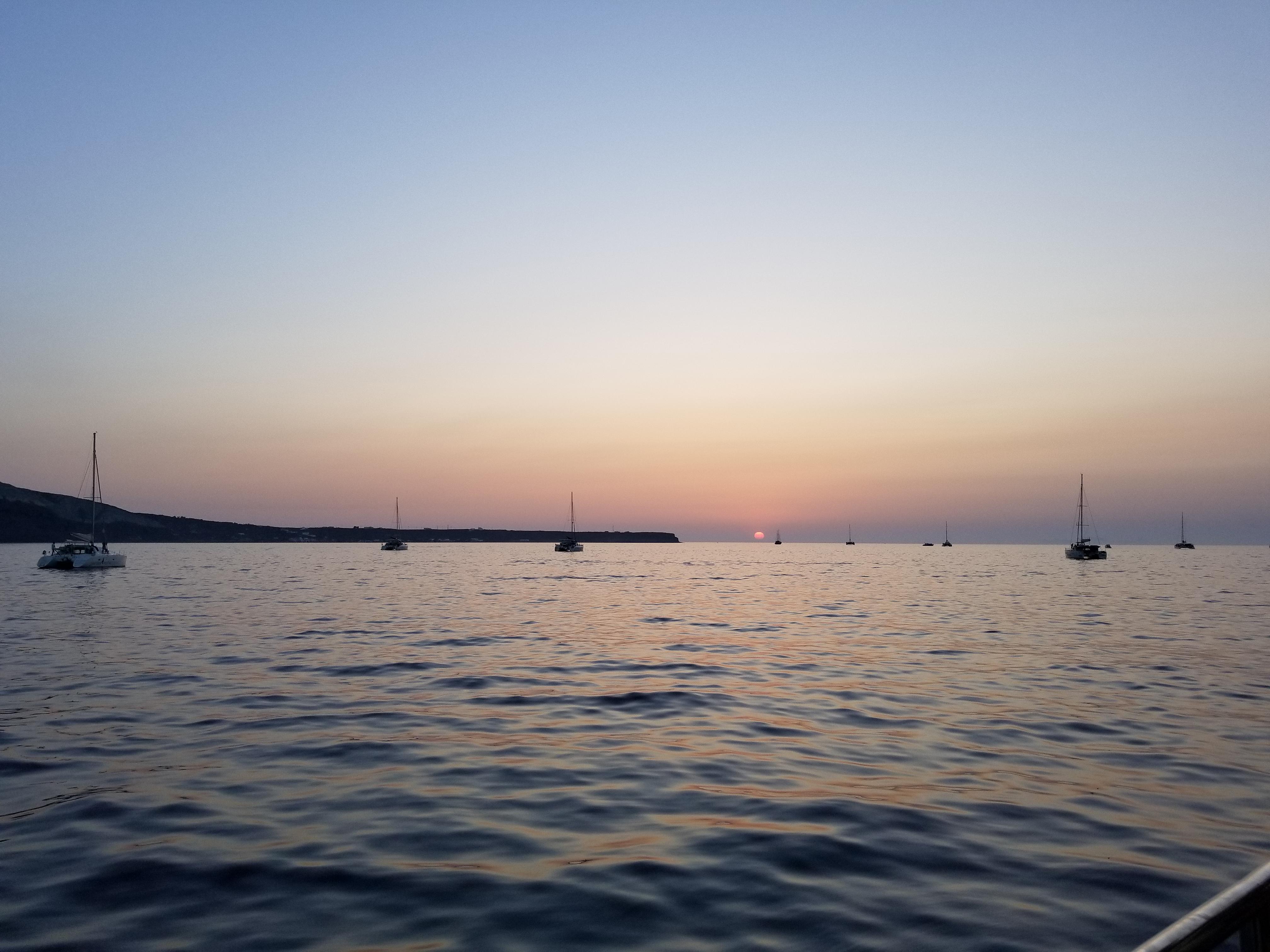 Santorini coast sunset