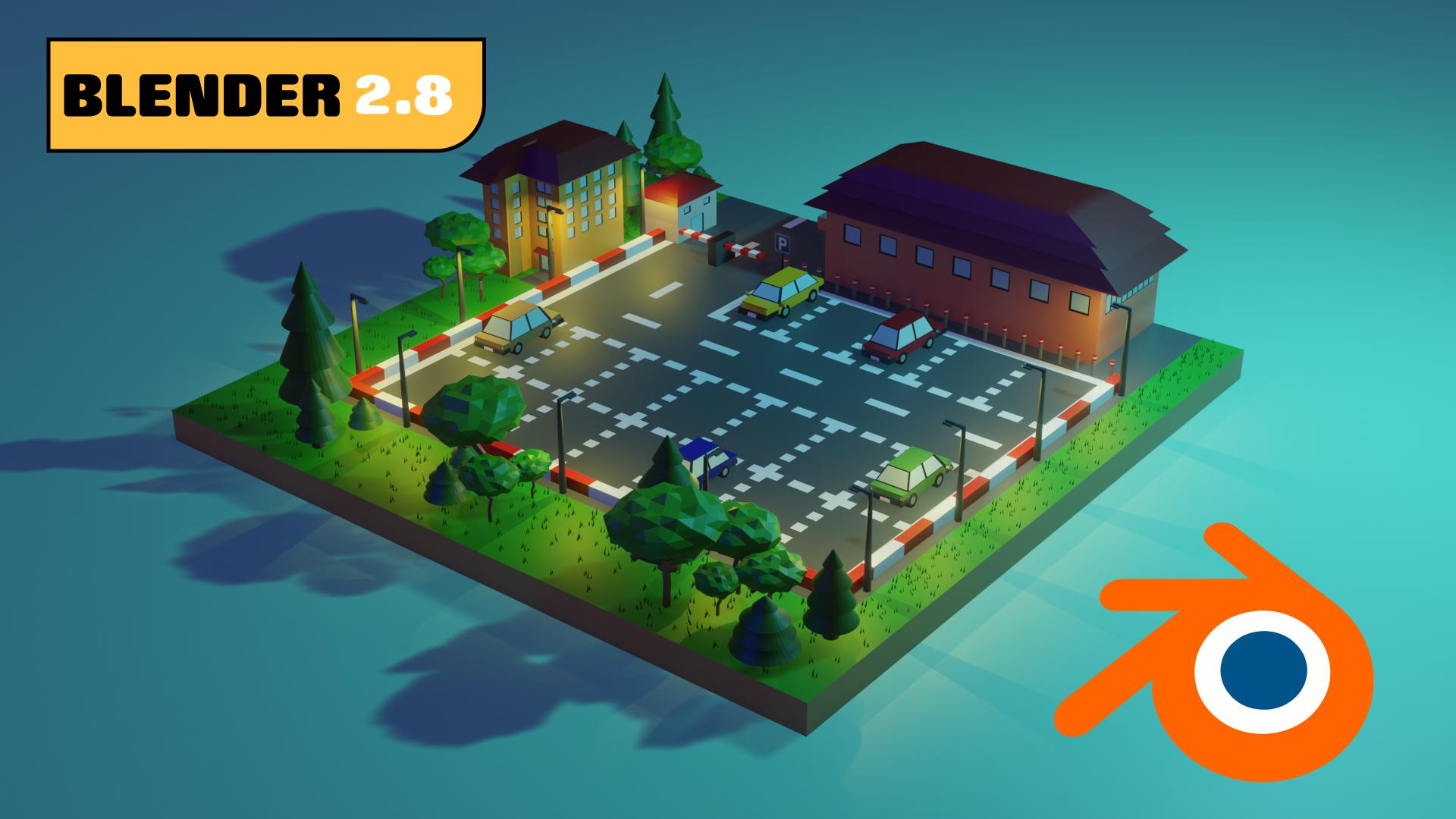 Low Poly Parking 3D