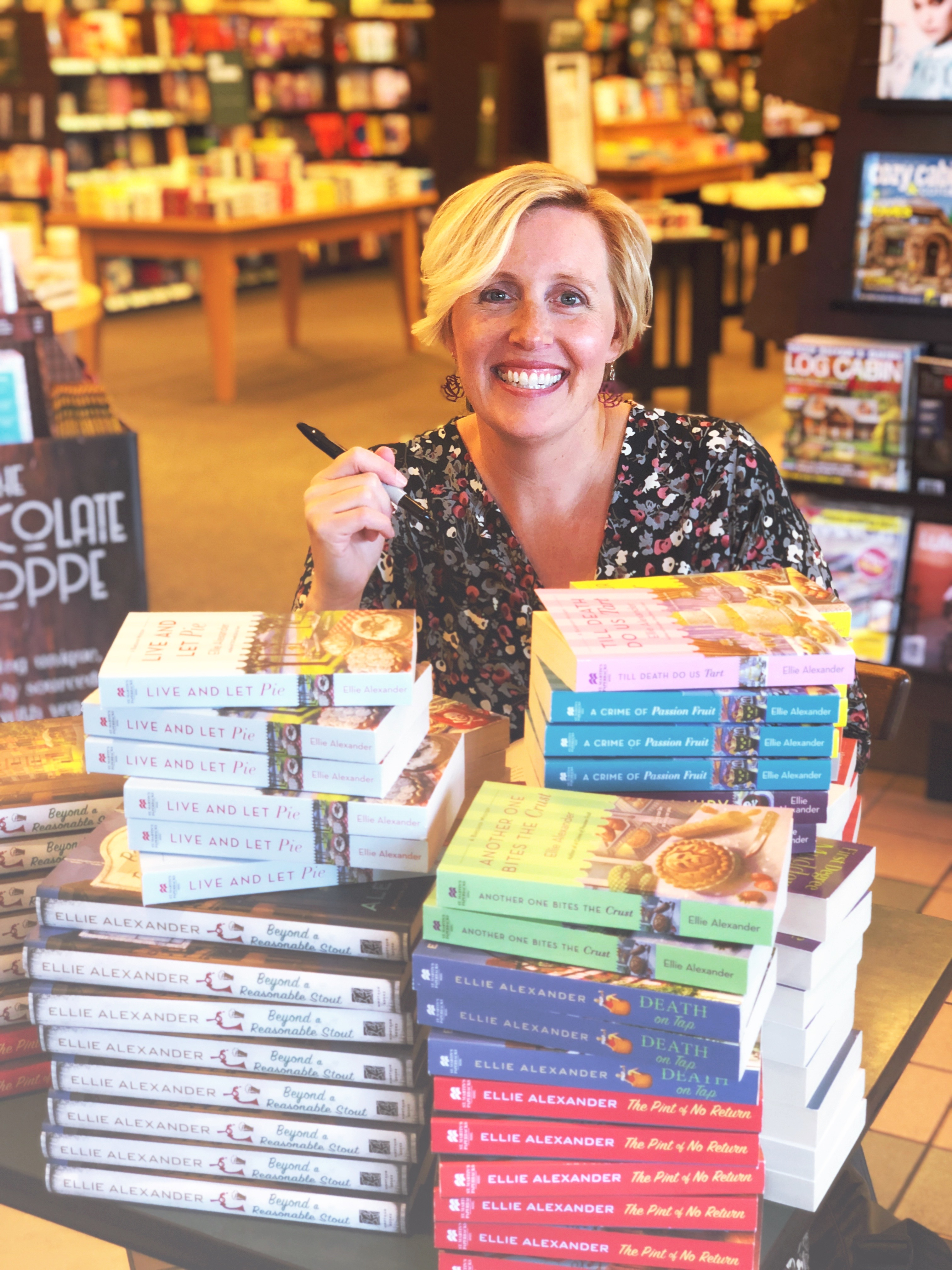 Mystery Author Ellie Alexander Signing Books