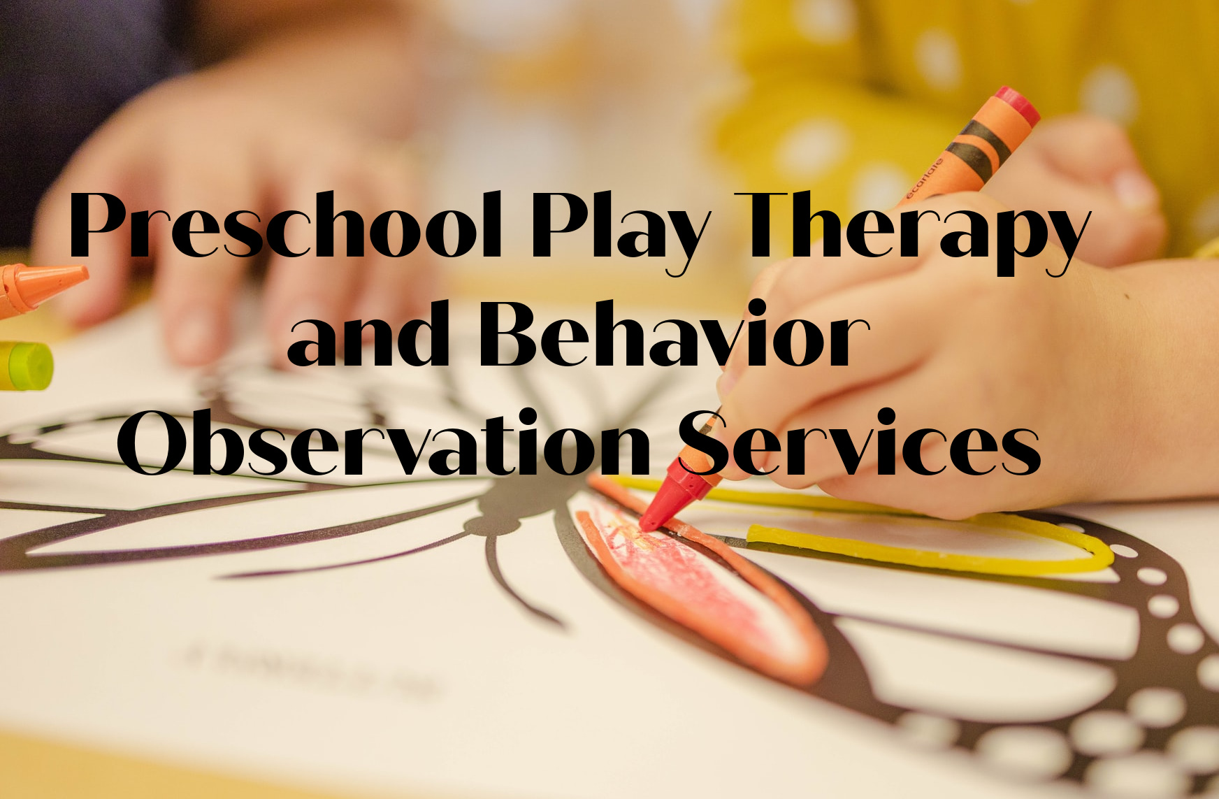 preschool play therapy