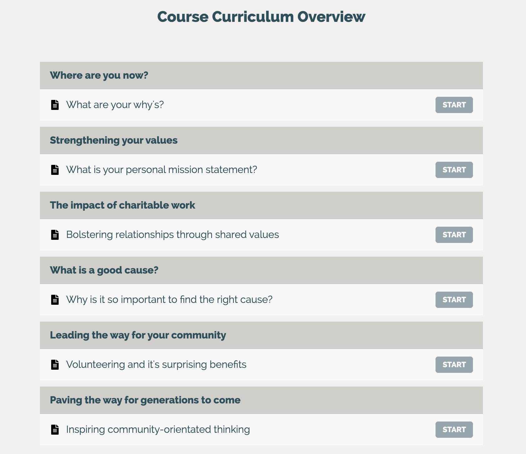 course curriculum