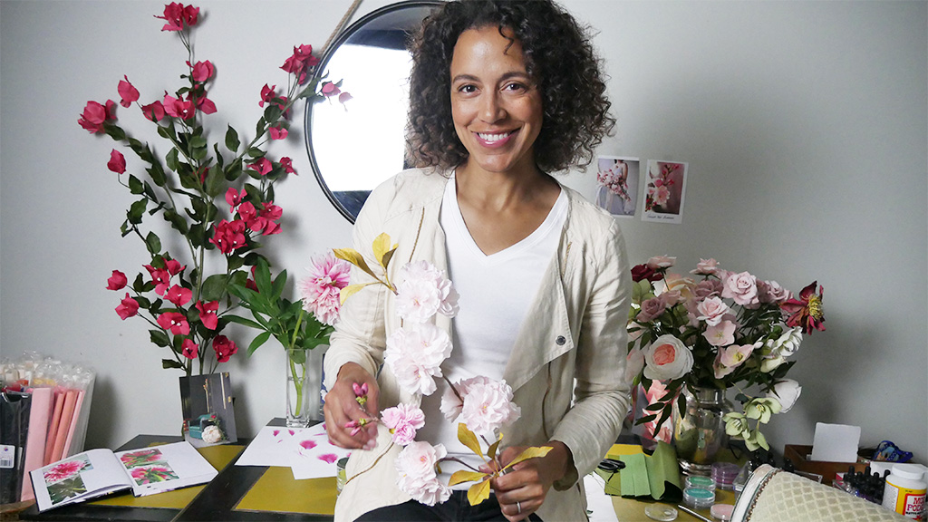 Artist Catherine Oxley of BOUQ Paper Flowers