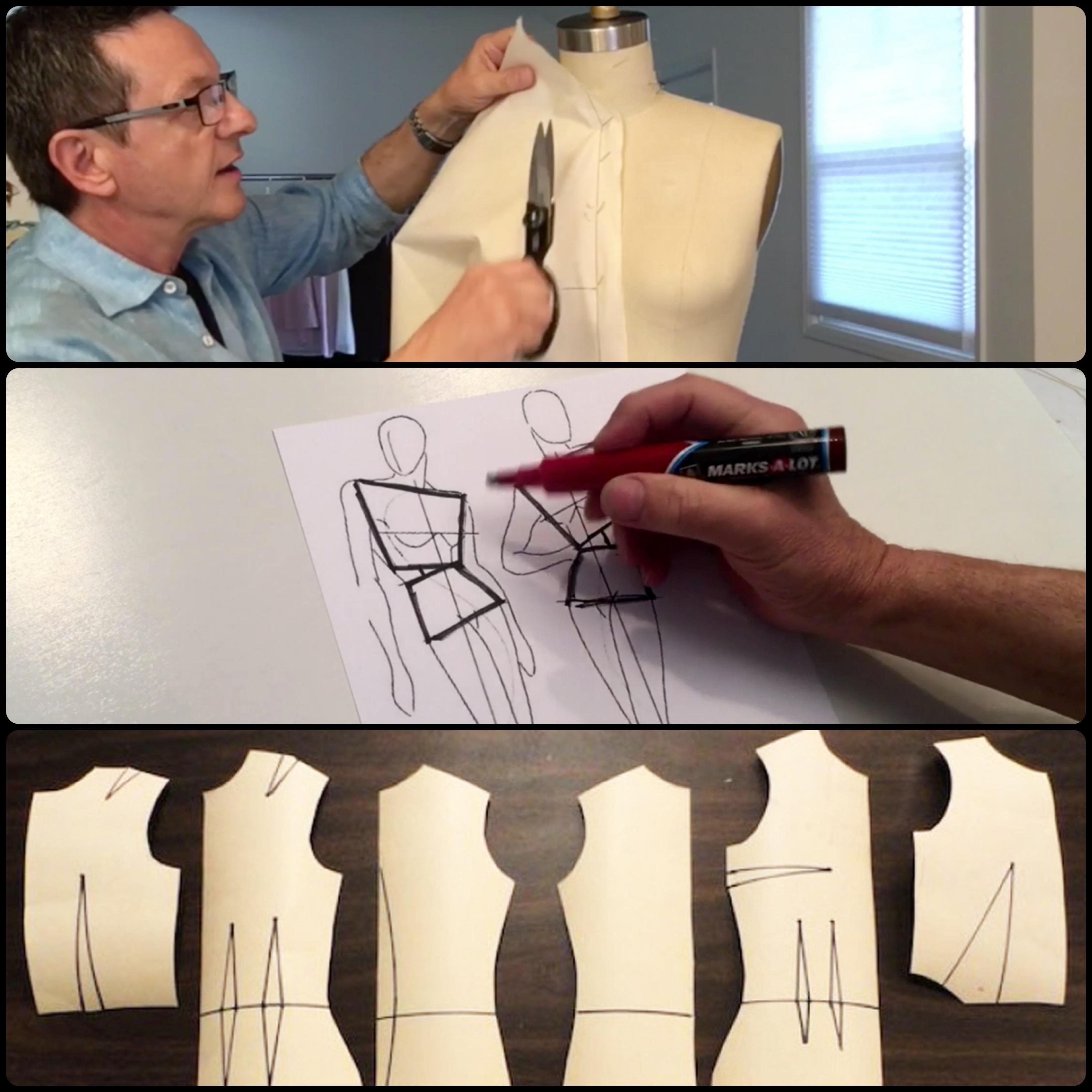 Draping, Sketching, Patternmaking Courses Online