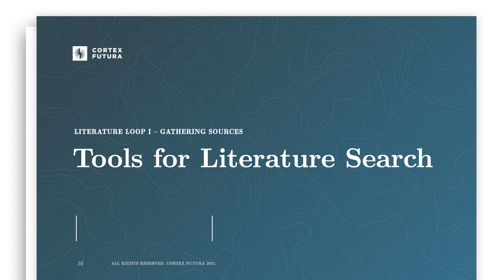 Tools for Literature Search