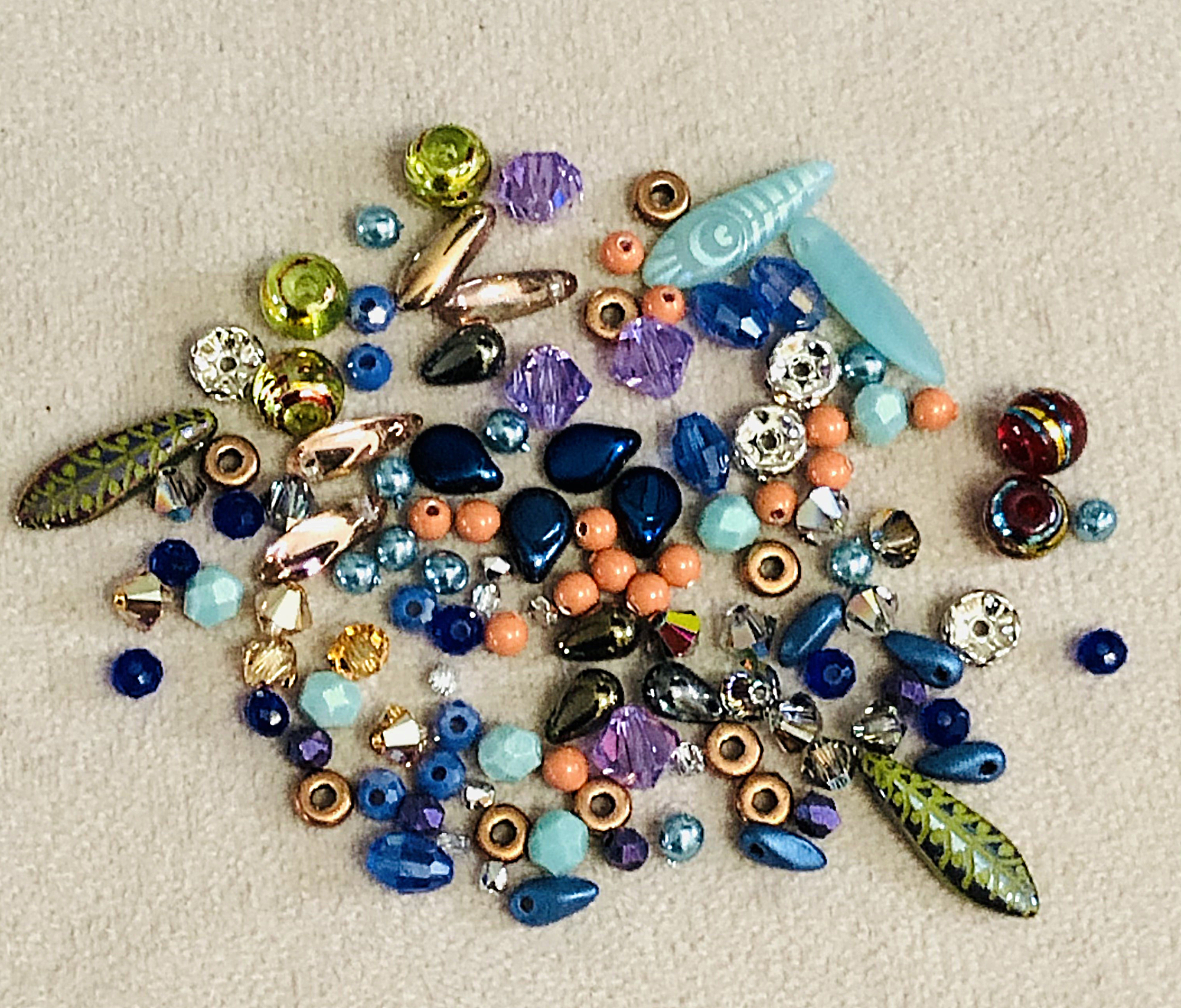 See the Materials List below for suggestions of beads to use for the fringe