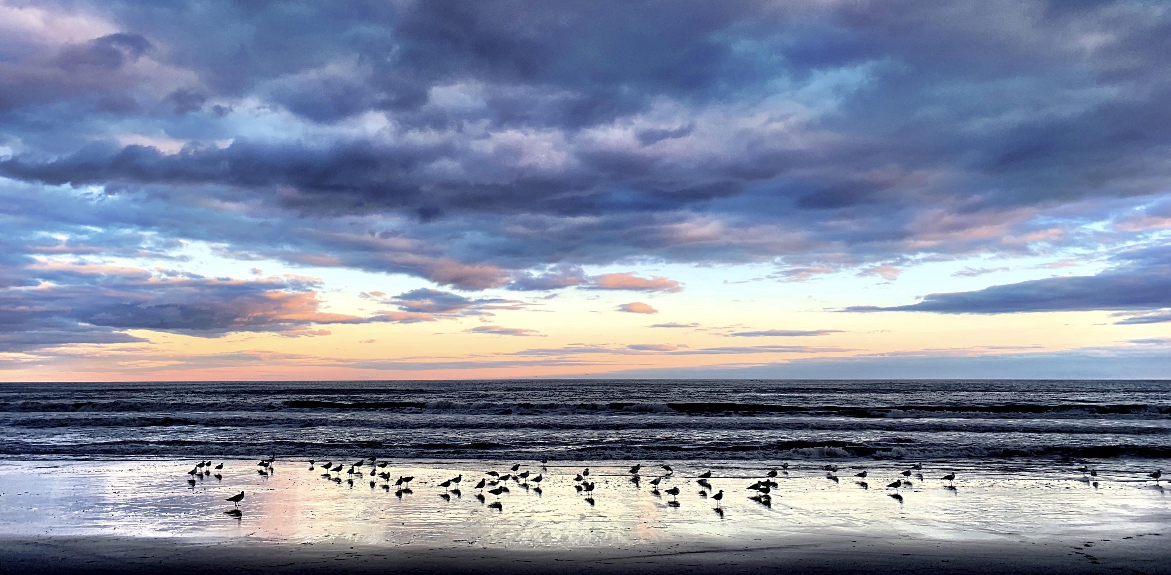 Evening Sky Over the Ocean