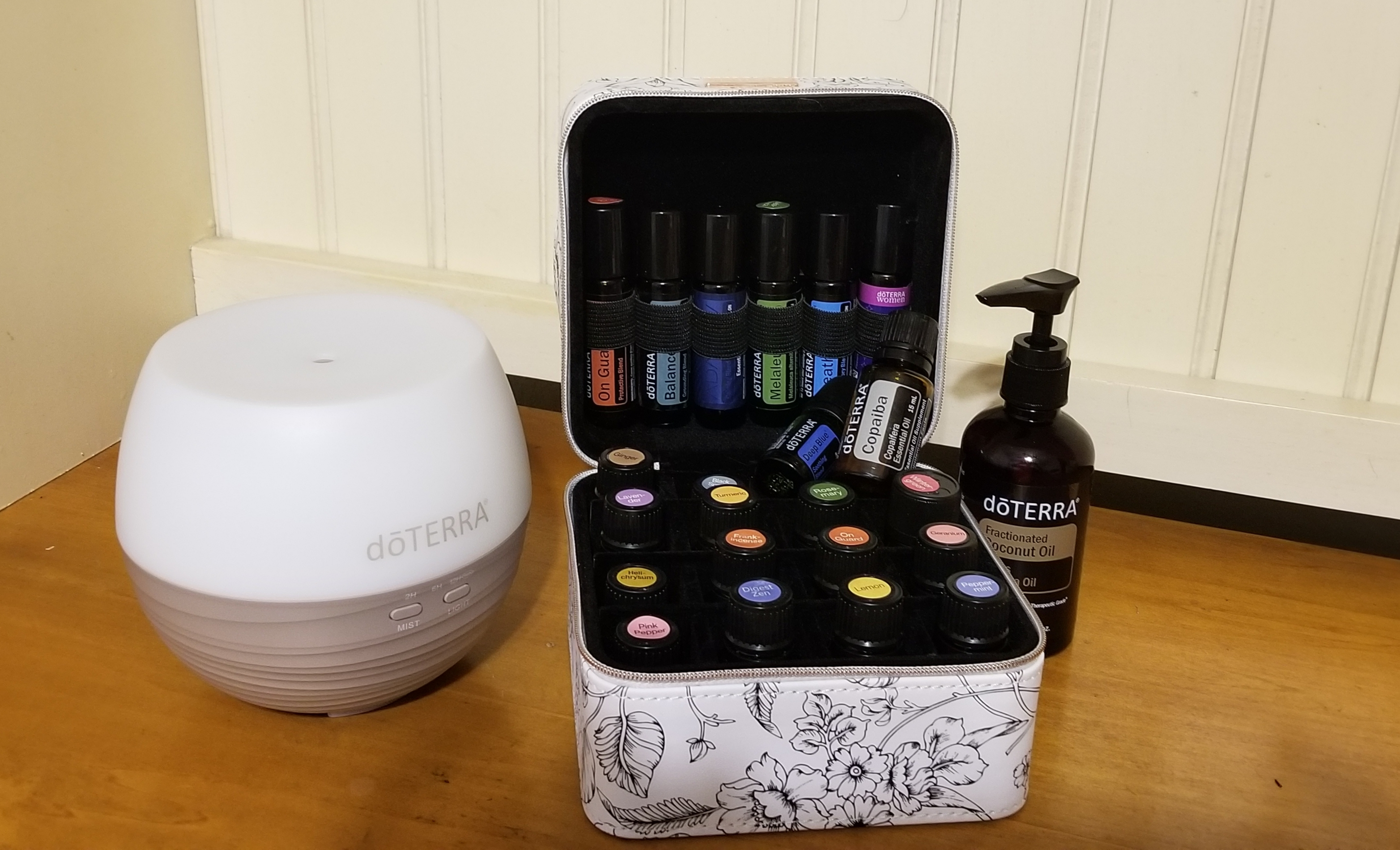 doTERRA Essential oils, diffuser and FCO