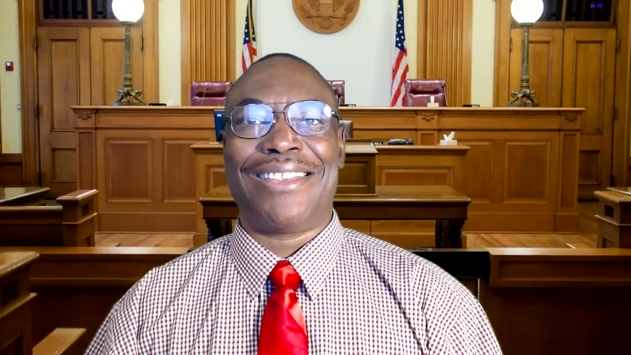 this is a picture of me in a courtroom