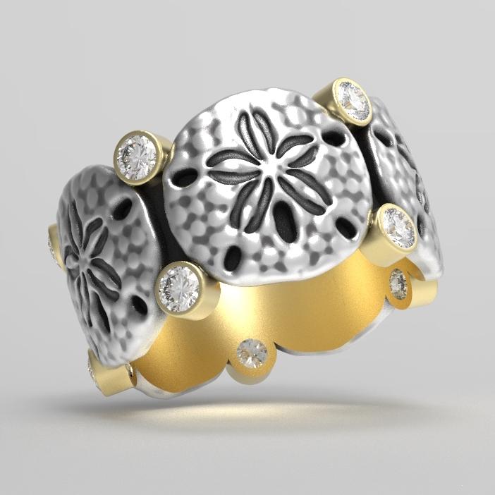 Sand Dollar Eternity Ring