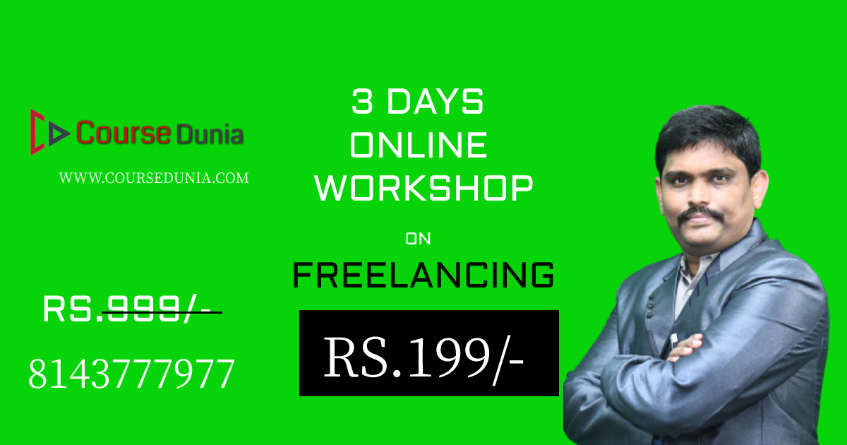 3 DAYS ONLINE WORKSHOP