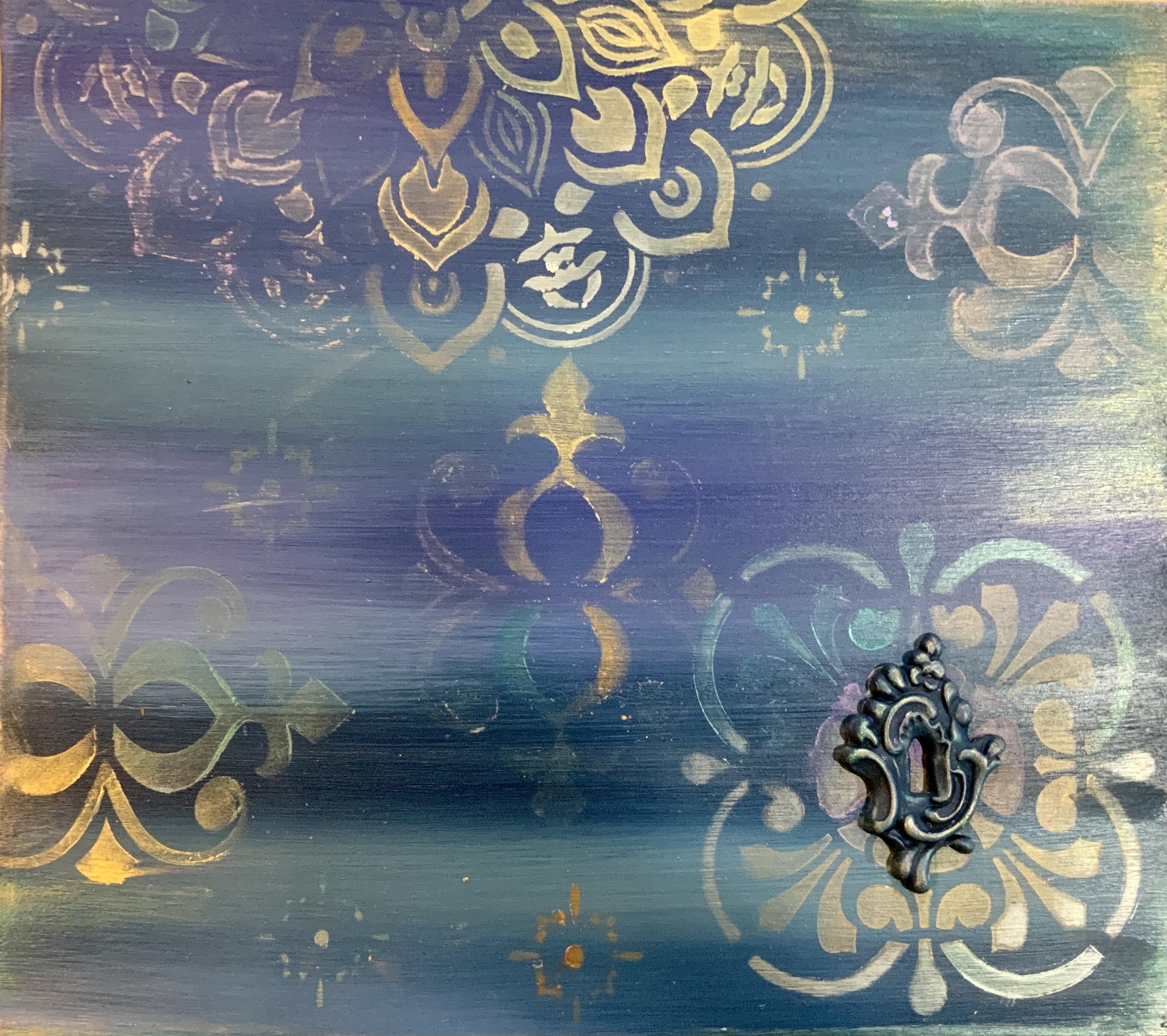 Blending Paint Boho Style Furniture Painting