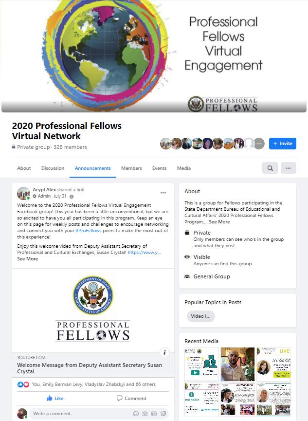 ProFellows Virtual Engagement FB Page