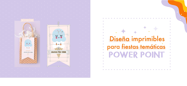 Curso online para diseñar kits e fiesta con Powerpoint