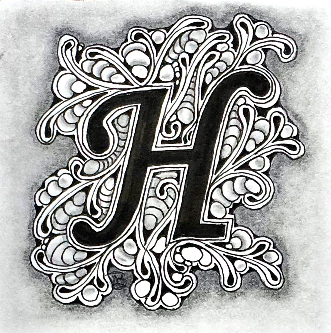 Embedded H With Smoky Shading