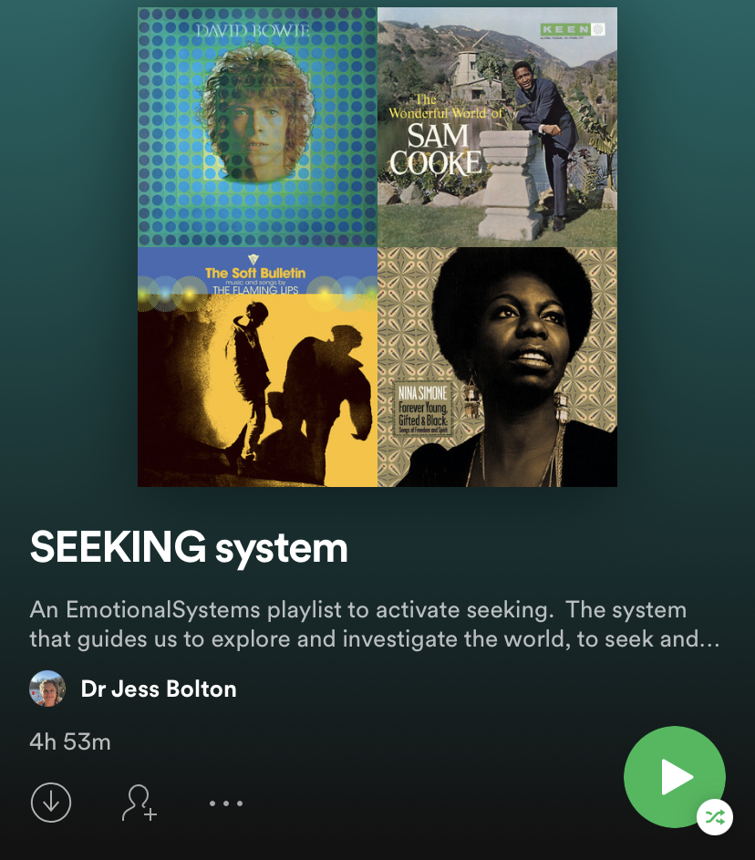 Playlist with album covers