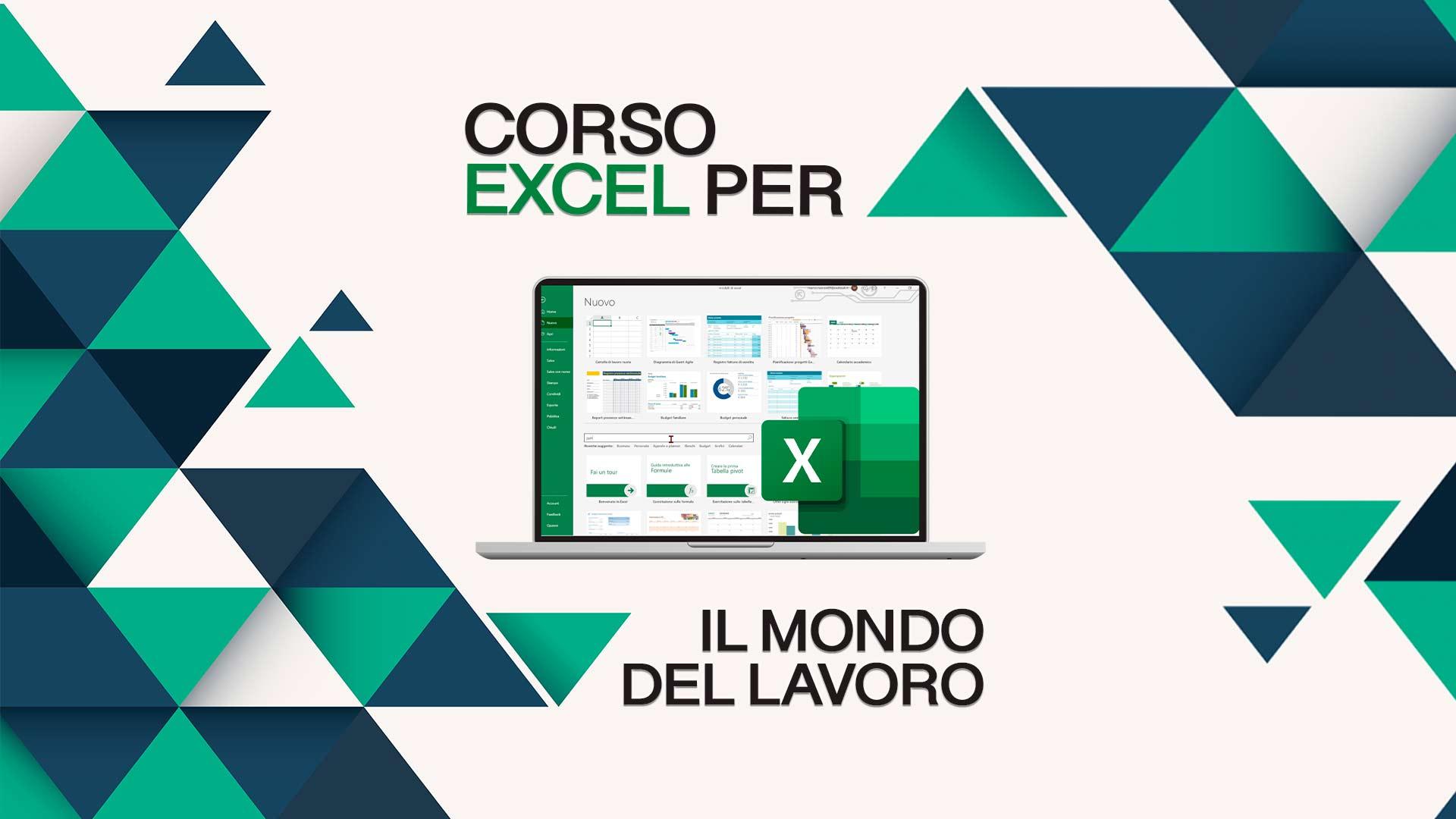 un corso Excel completo che ti insegna cosa realmente serve nel mondo del lavoro e in azienda