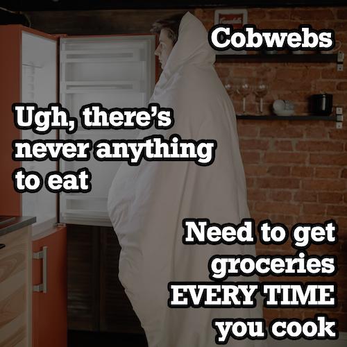 guy standing in front of empty fridge