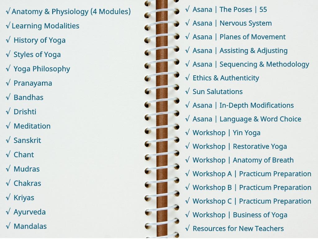 online yoga training curriculum