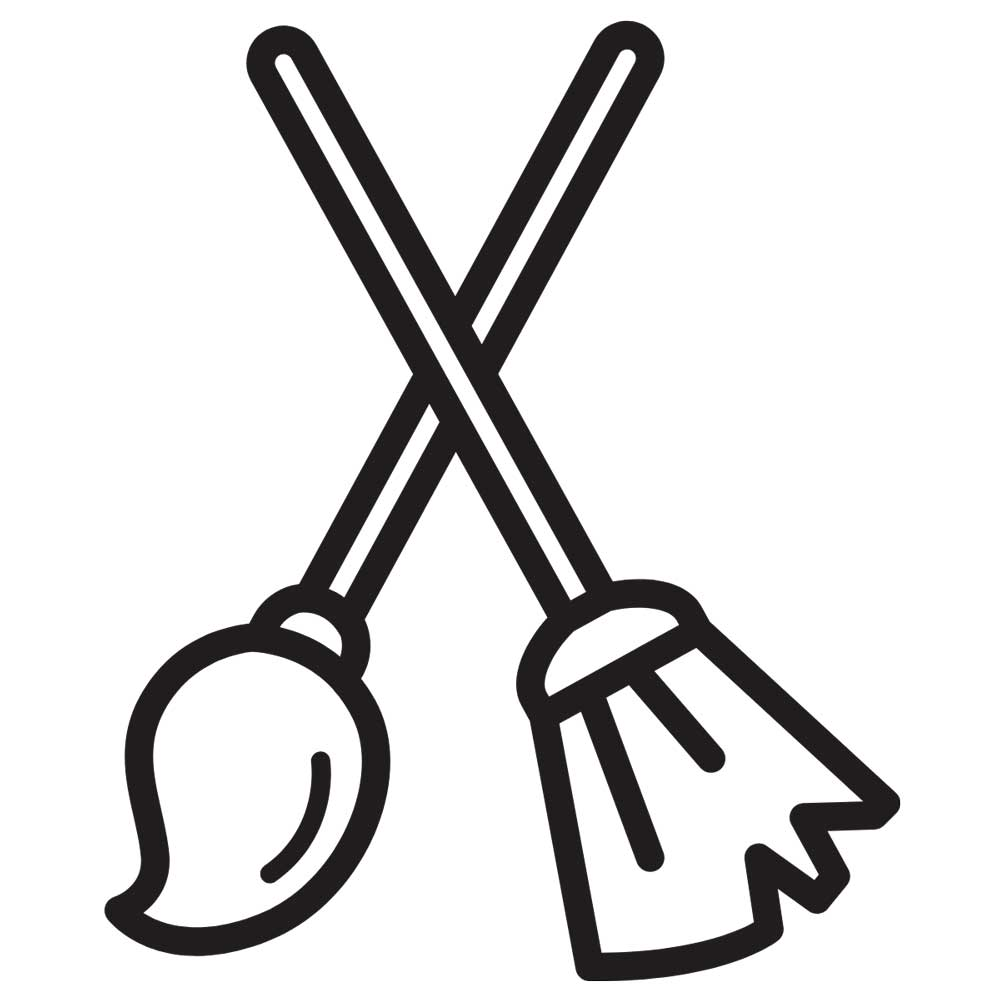 icon of broom and mop crossed