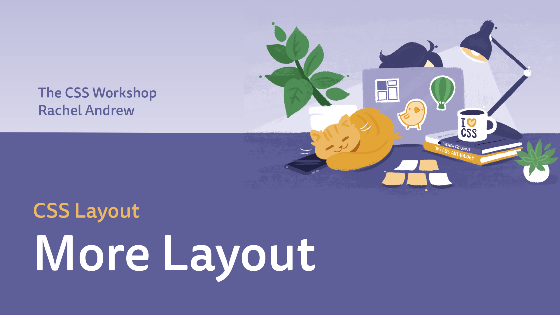 CSS more layout course cover