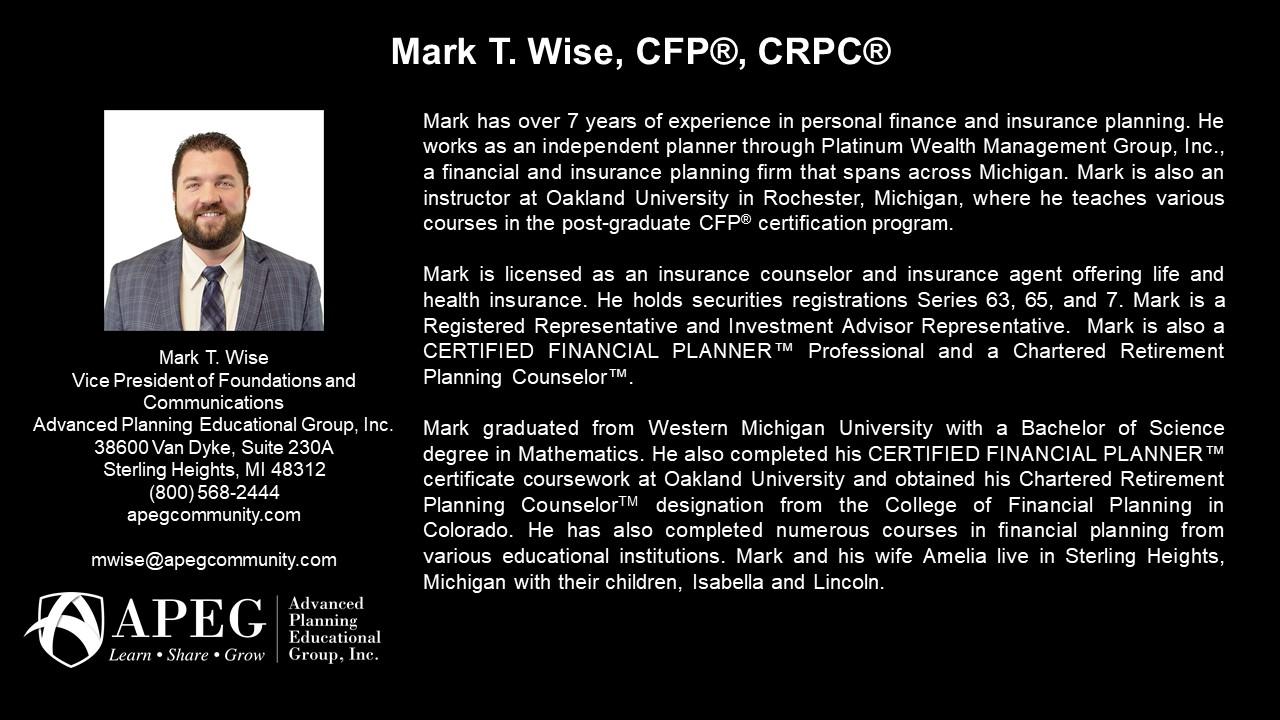 APEG Mark Wise