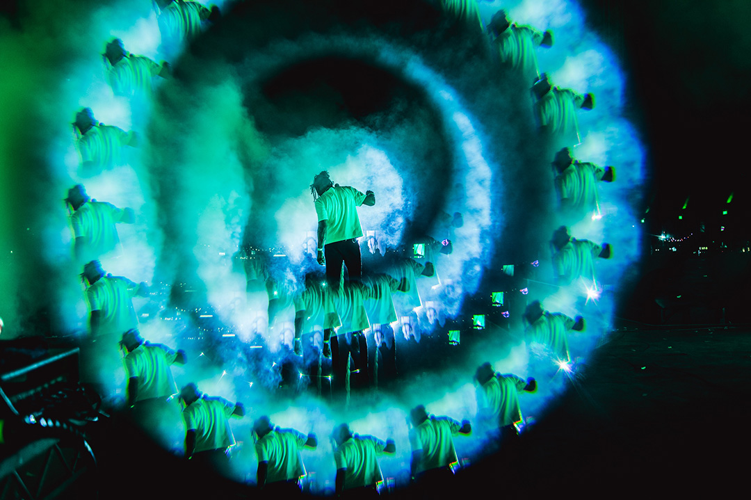 Music concert photography using a fractal by Michelle Grace Hunder