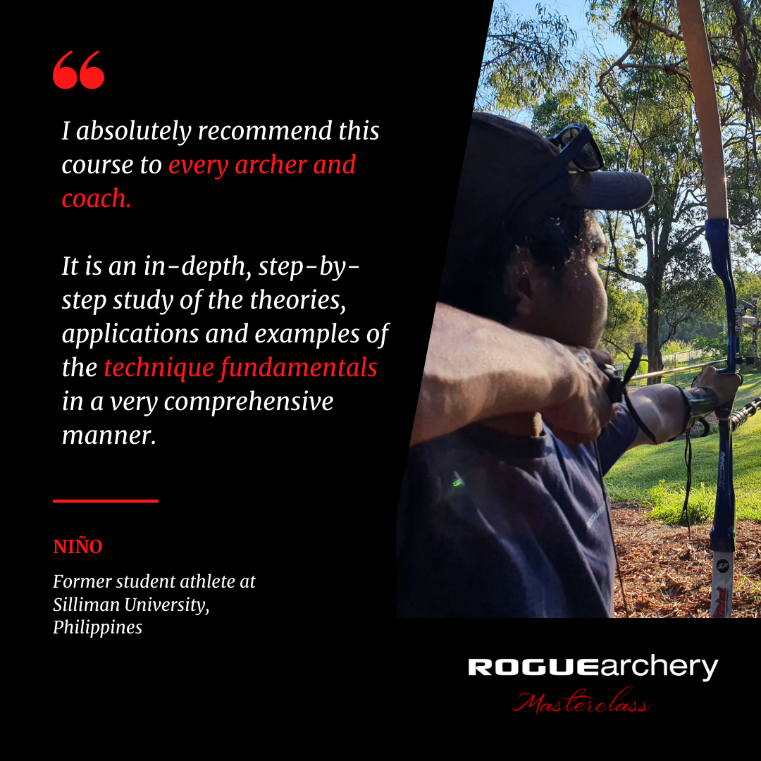 Nino Montejo | Recurve Archery Technique Fundamentals | Archery Coaching | Rogue Archery Masterclass | Olympic Archery | Online Coaching | Archery Form