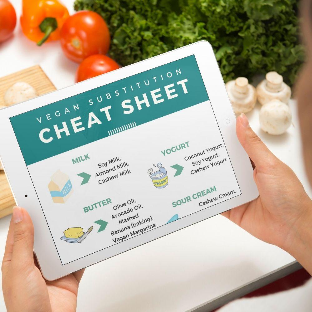 vegan substitution cheat sheet