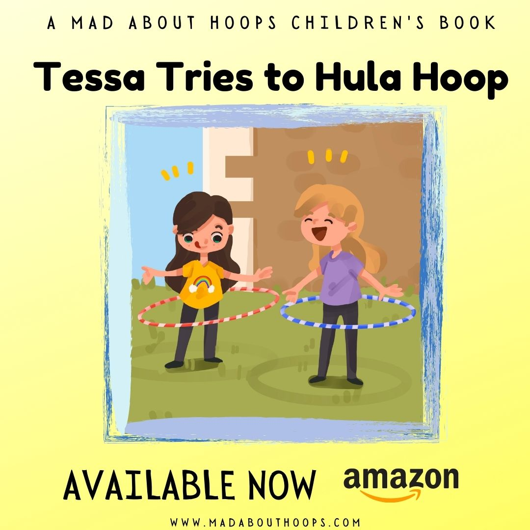 Tessa tries to hula hoop